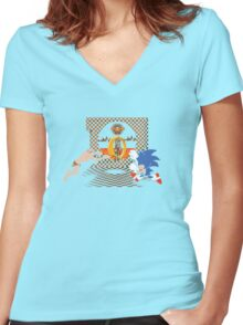 Precious Power-Up Women's Fitted V-Neck T-Shirt