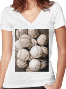 Baseball Collection Women's Fitted V-Neck T-Shirt