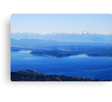 Over Puget Sound Canvas Print