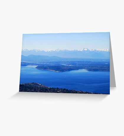 Over Puget Sound Greeting Card