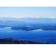 Over Puget Sound Photographic Print