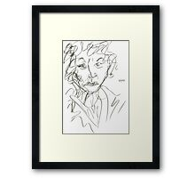Miss Marple Sketch I Framed Print