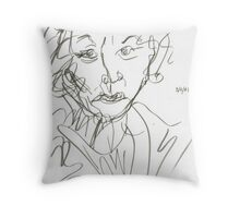 Miss Marple Sketch I Throw Pillow
