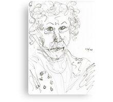 Miss Marple Sketch II Canvas Print