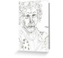 Miss Marple Sketch II Greeting Card