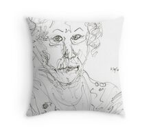 Miss Marple Sketch II Throw Pillow