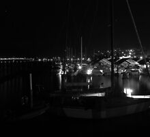 Marina in Monochrome. Long exposure {30sec} by Shaun Ashmead