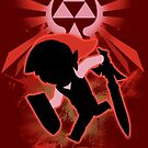 Super Smash Bros. Red Toon Link Silhouette by jewlecho