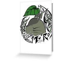 Totoro face Greeting Card