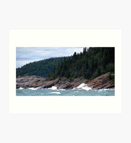 Lake Superior Coastline Art Print