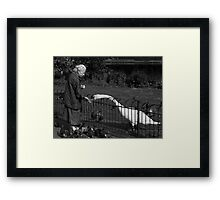 Old Lady & The Swan Framed Print