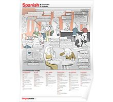 Learn Spanish - Conversation in a Spanish café Poster