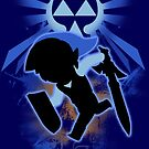 Super Smash Bros. Blue Toon Link Silhouette by jewlecho