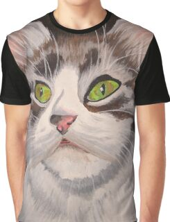 Long Haired Tabby Cat Portrait Graphic T-Shirt