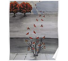 Autumn Butterflies Poster