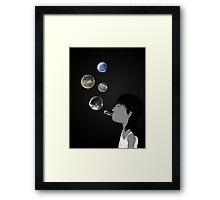 Blowing planets Framed Print