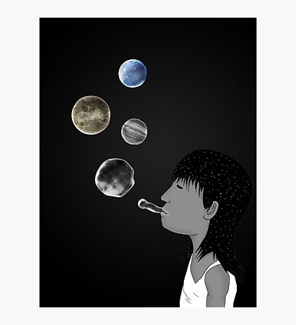 Blowing planets Photographic Print