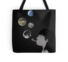 Blowing planets Tote Bag