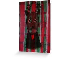 Christmas - The little cute Reindeer - Art for Kids Greeting Card