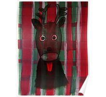 Christmas - The little cute Reindeer - Art for Kids Poster