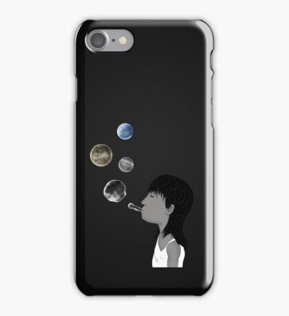 Blowing planets iPhone Case/Skin