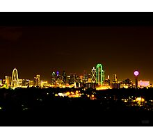Dallas Skyline at Night Photographic Print