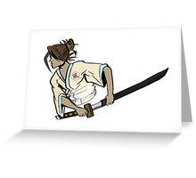 samurai ninja wind Greeting Card