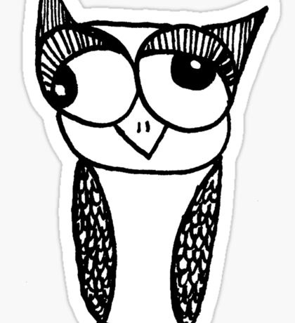 Owl number 6 Sticker