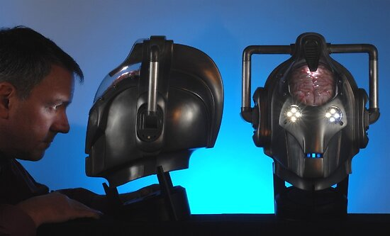 Doctor Who Cybermen Heads by ChrisBalcombe