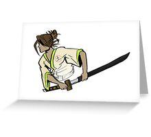 samurai ninja earth Greeting Card