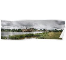 Panoramic of Leeds Castle England Poster