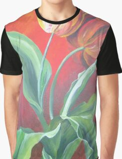 Red and Yellow Tulips Graphic T-Shirt