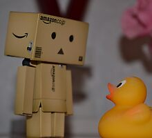 Danbo and the duck... Who do you think is more scared? by Elinor Barnes