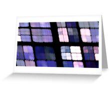 Lavender Grid Greeting Card