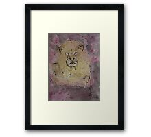 The never forget King of Animals Framed Print