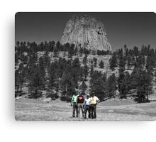 Devils Tower - Close Encounter of the Harley Riders Canvas Print