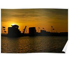 Cardiff Bay at Sunset Poster