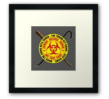 Zombie Defense Squad - when the going get's tough - step aside! Framed Print