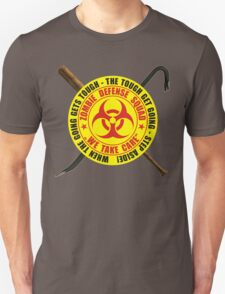 Zombie Defense Squad - when the going get's tough - step aside! T-Shirt