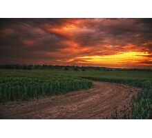 Sunset over Iden Photographic Print