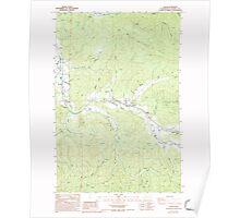 USGS Topo Map Washington State WA Lebam 241977 1986 24000 Poster