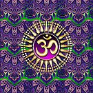 Golden OM Purple Bohemian Pattern iPhone + iPod Touch Case by webgrrl