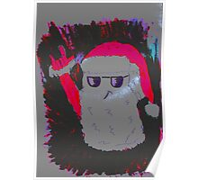 Christmas - the pink Santa Claus Poster