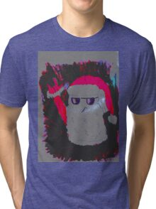 Christmas - the pink Santa Claus Tri-blend T-Shirt