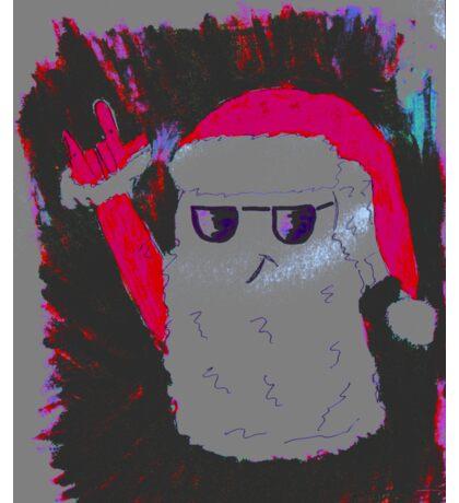 Christmas - the pink Santa Claus Sticker