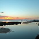 Maroochy River At Dawn. Maroochydore, Qld, Australia by Ralph de Zilva