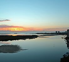 Maroochy River At Dawn. Maroochydore, Qld, Australia by Ralph de Zilva