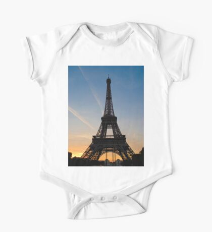 Eiffel Sunset One Piece - Short Sleeve