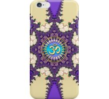 Purple Fractal Lace Om Symbol iPhone + iPod Touch Case iPhone Case/Skin