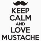 Keep Calm and Love Mustache by Barbo
